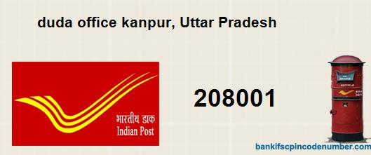 Postal Pin Code Number Of Duda Office Kanpur Uttar Pradesh